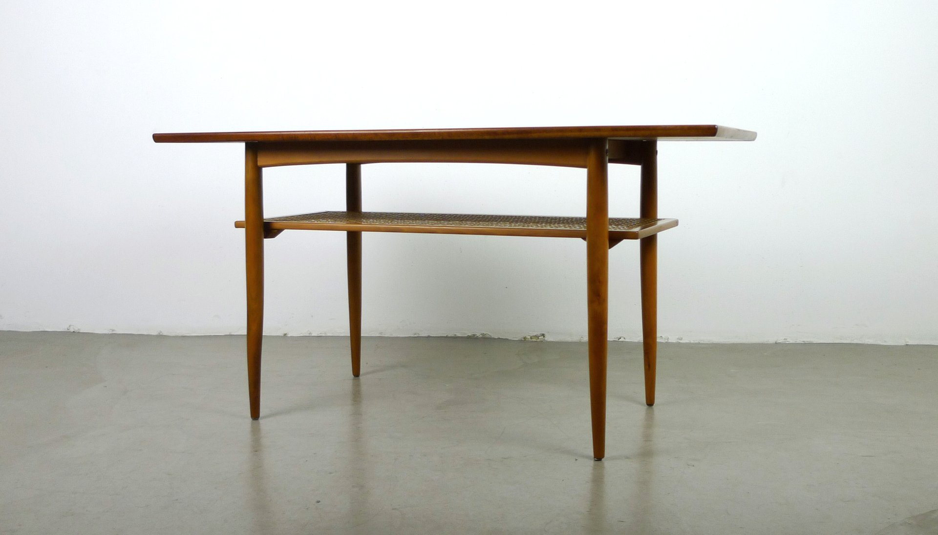 Teak Coffee Table With Shelf From Knoll 1950s For Sale At Pamono