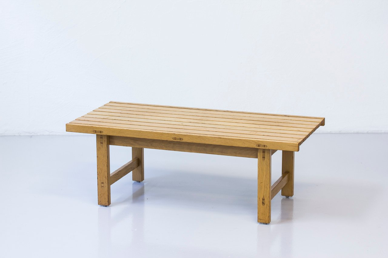 Swedish Slatted Bench In Solid Oak By Hugo Svensson For Bj Rnums M Belfabriker Ab 1960s For