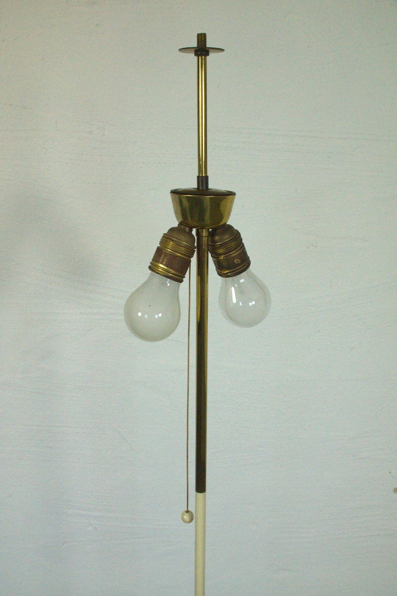 German floor lamp with triple foot and pleated shade for 9 foot floor lamp
