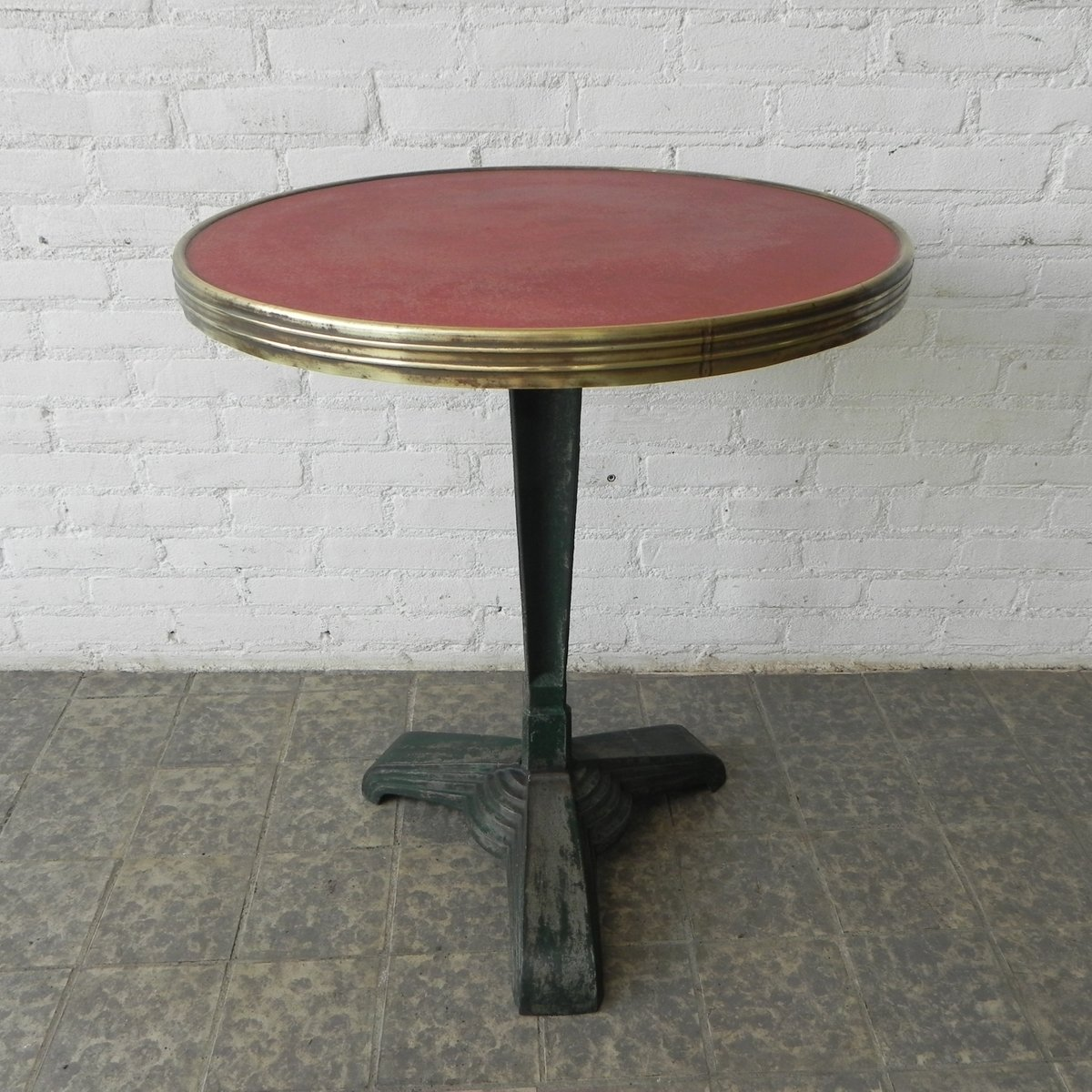 Art deco bistro table with cast iron base for sale at pamono - Table de bistrot occasion ...