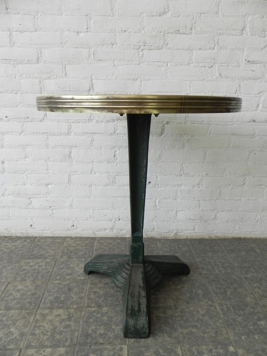 Art deco bistro table with cast iron base for sale at pamono for Table 7 bistro