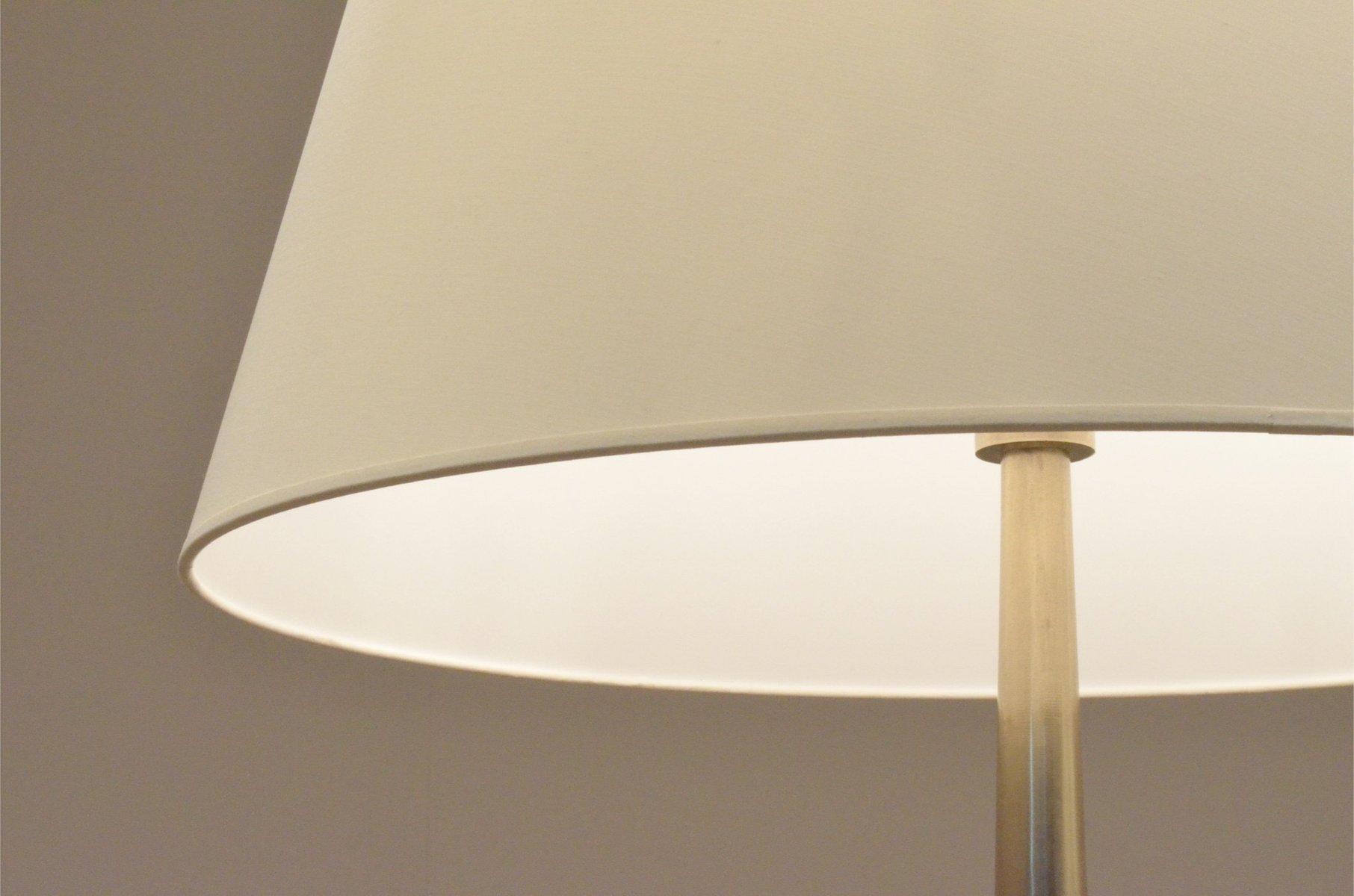 franz sische art deco stehlampe aus messing stoff 1920er bei pamono kaufen. Black Bedroom Furniture Sets. Home Design Ideas