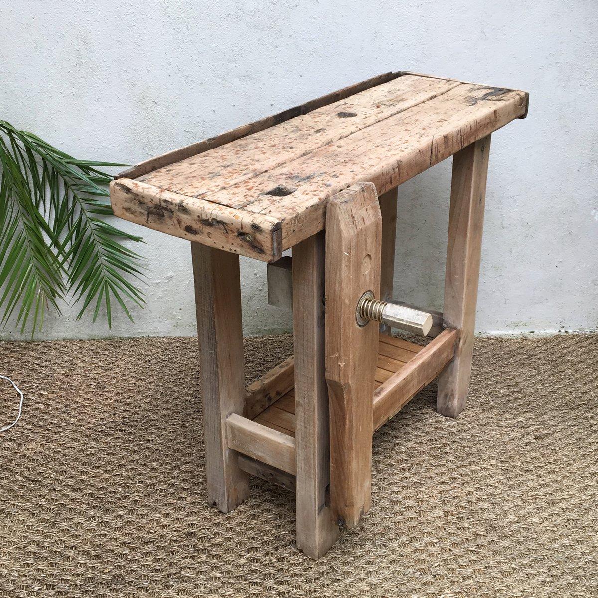 vintage arbeitstisch aus holz bei pamono kaufen. Black Bedroom Furniture Sets. Home Design Ideas