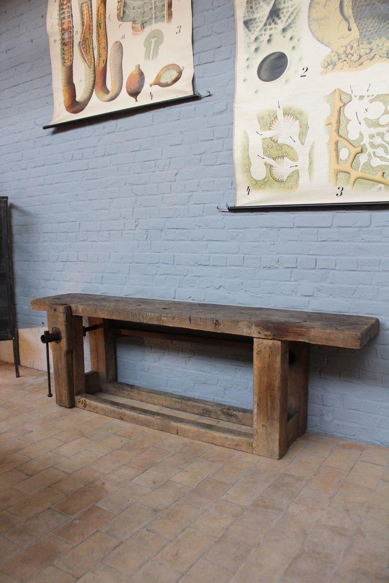 Vintage Arbeitstisch aus Holz, 1950er bei Pamono kaufen