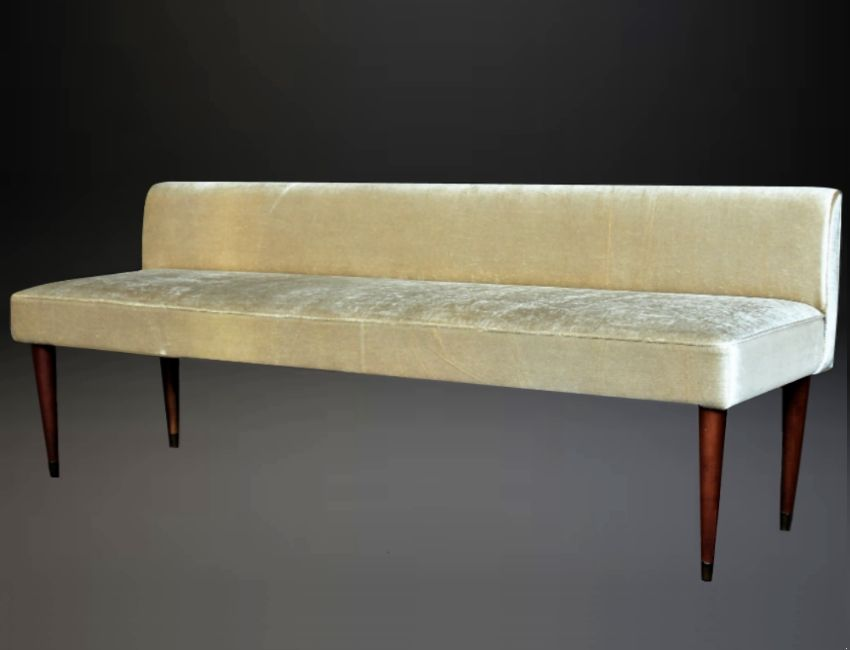 Mid century long italian decorative bench 1950s for sale at pamono Decorative benches