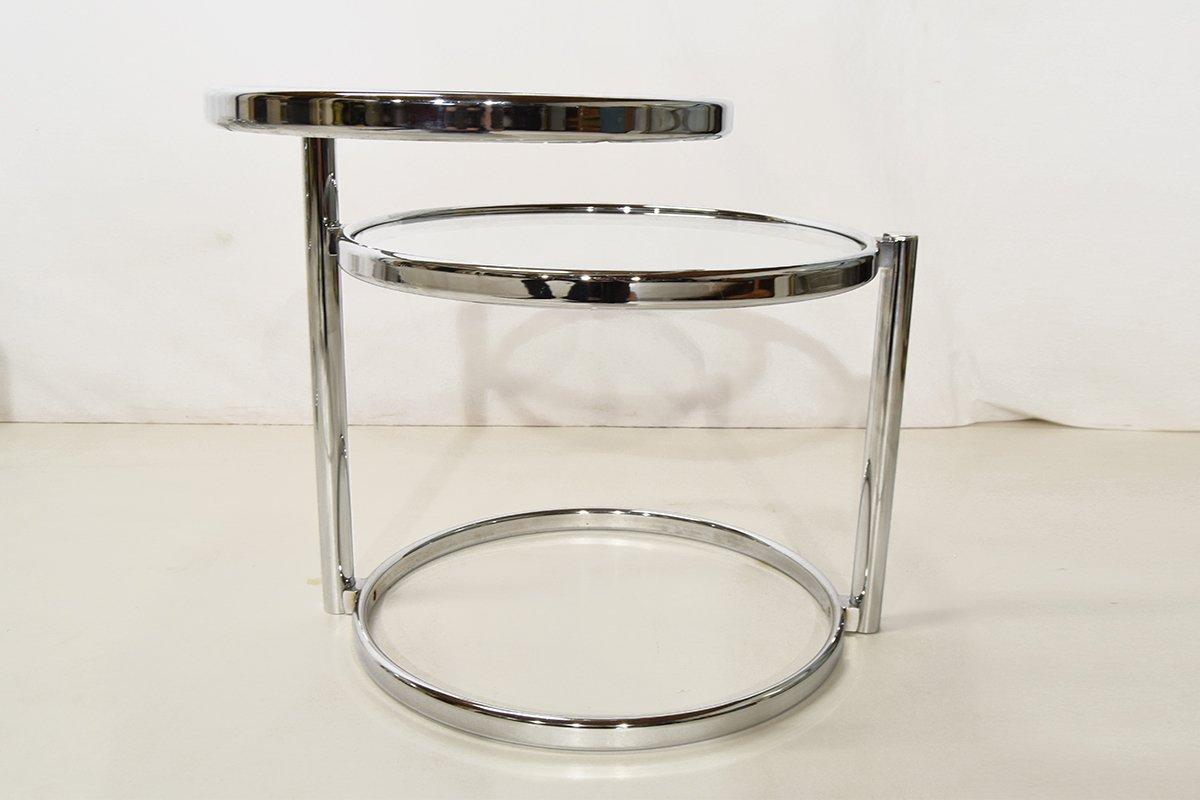 Tables basses en chrome et verre set de 2 en vente sur pamono for Set de table en verre
