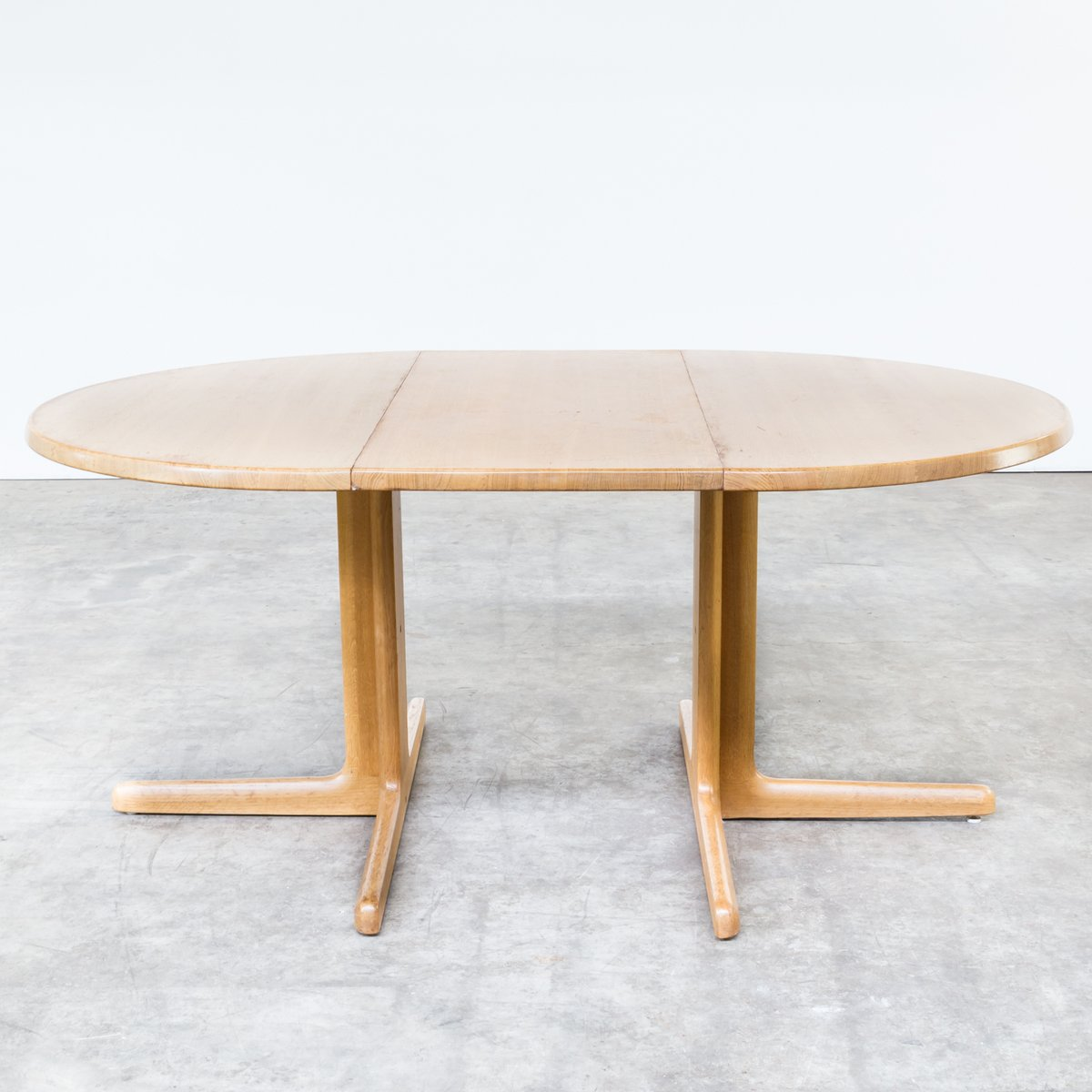 Solid Oak Extendable Dining Table from Niels Bach AS, 1960s for ...
