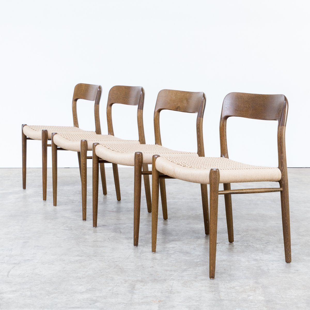 Model 75 Dining Chairs By Niels O. Møller For J.L. Møllers, 1960s, Set Of 4