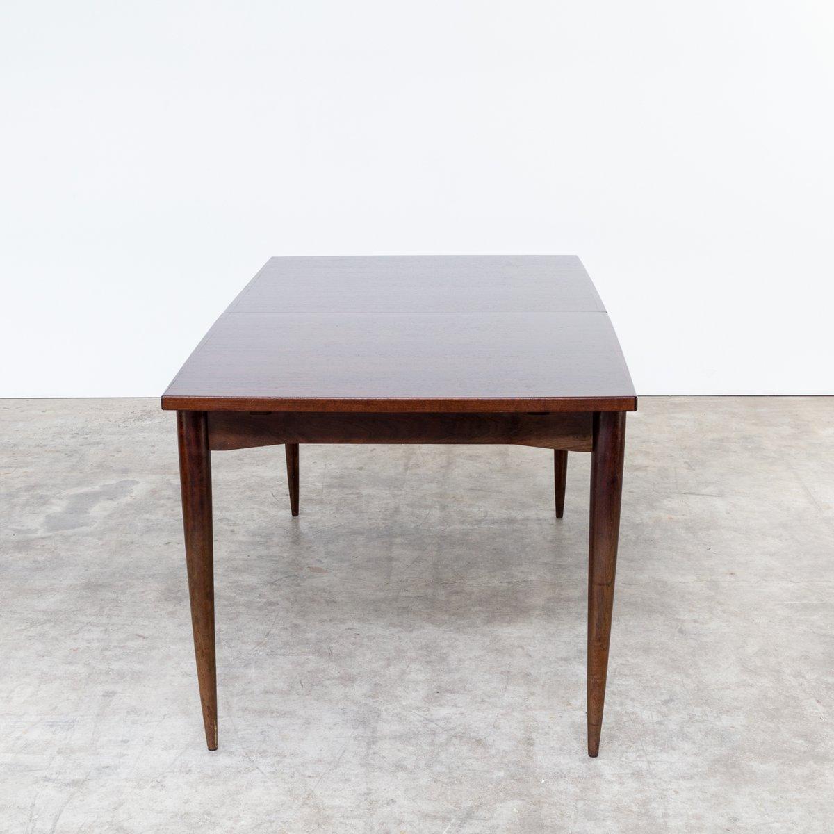 ausziehbarer brauner palisander esstisch 1960er bei. Black Bedroom Furniture Sets. Home Design Ideas