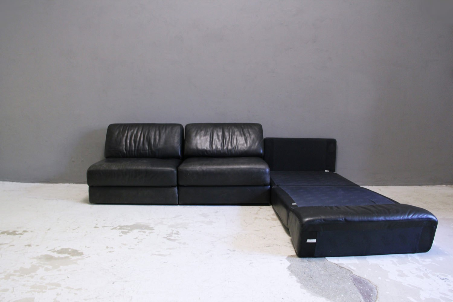 vintage ds 76 leather sleep sofa from de sede for sale at. Black Bedroom Furniture Sets. Home Design Ideas