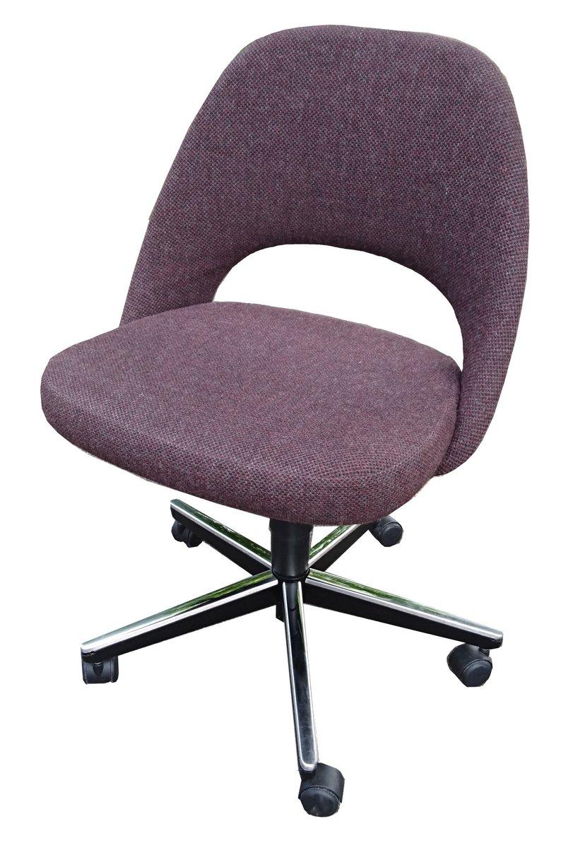 Vintage Executive Armless Chair On Swivel Base By Eero Saarinen For Knoll