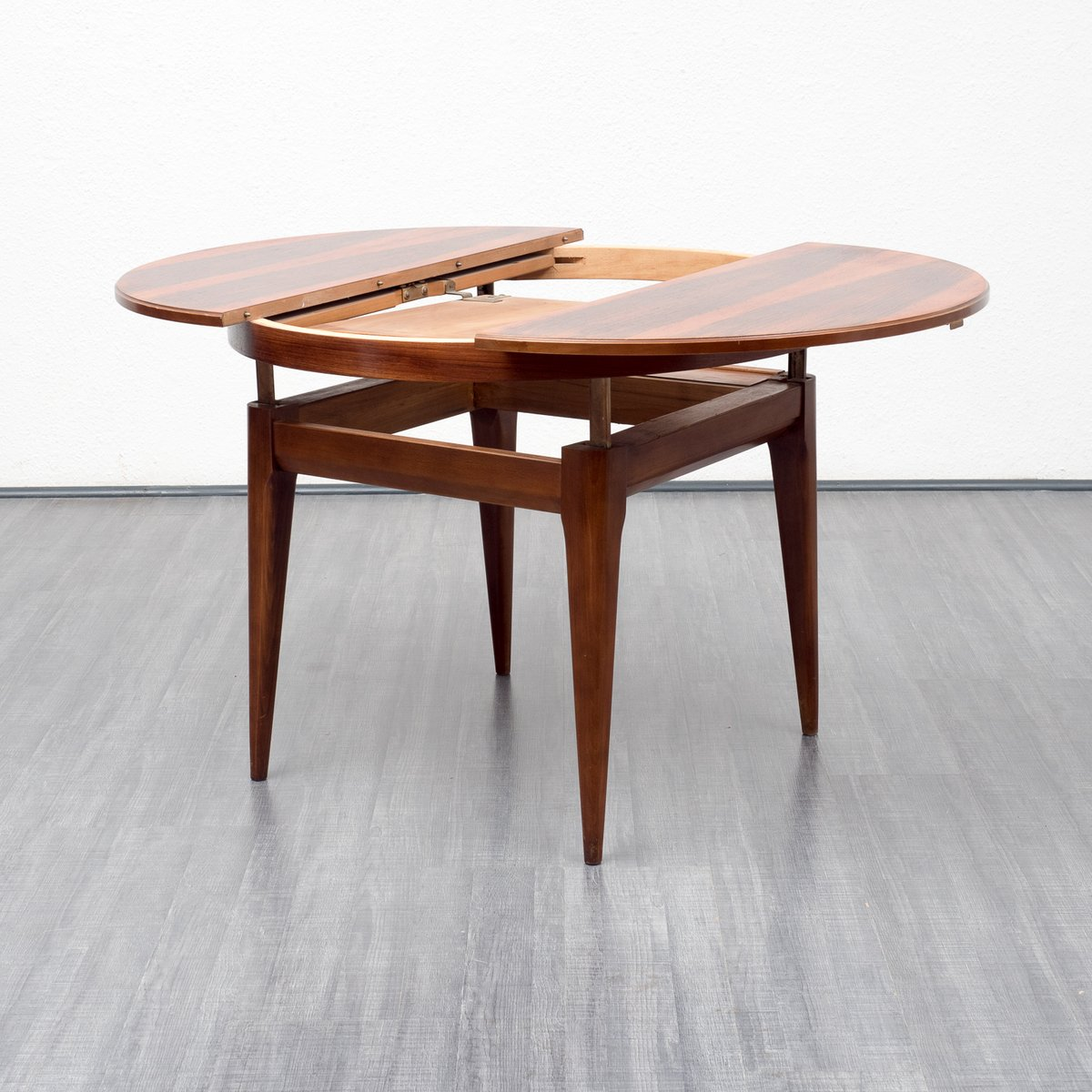 Rosewood Dining Table With Fold Out Top 1960s For Sale At