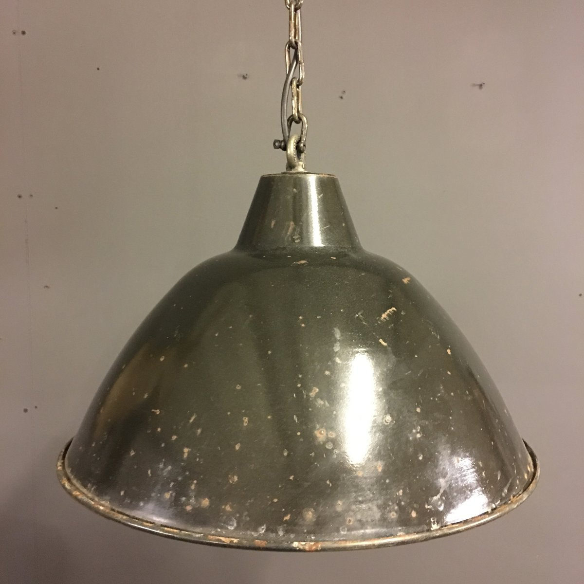 vintage black enamel factory pendant light for sale at pamono