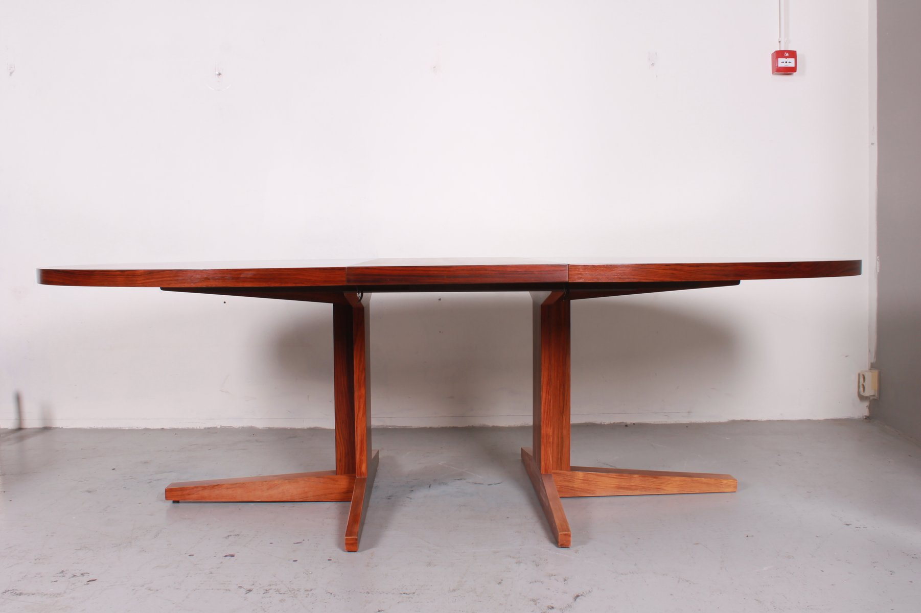 Vintage extensible dining table from dyrlund for sale at for Table extensible quadrato