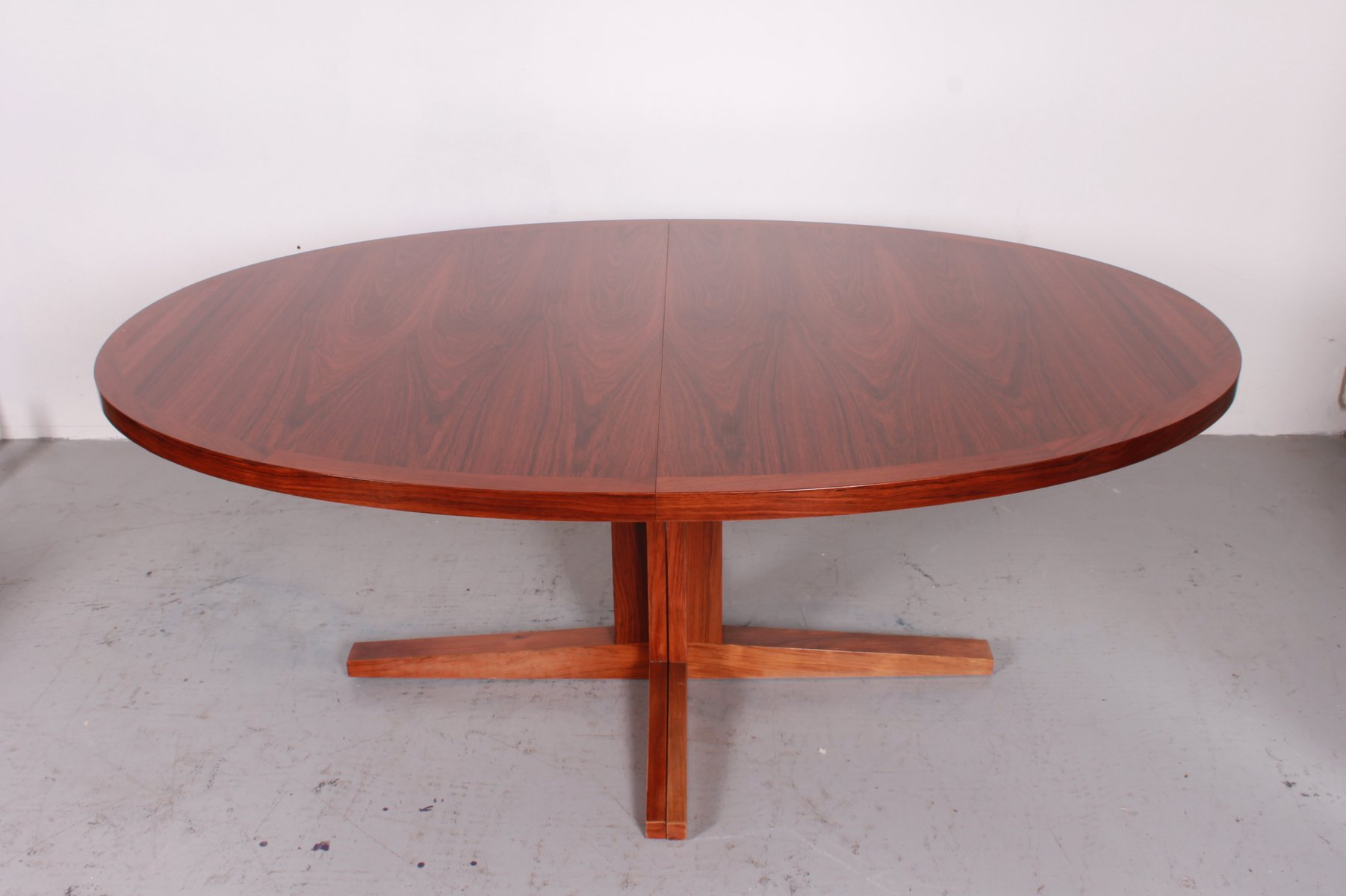 Vintage extensible dining table from dyrlund for sale at for Table exterieure extensible