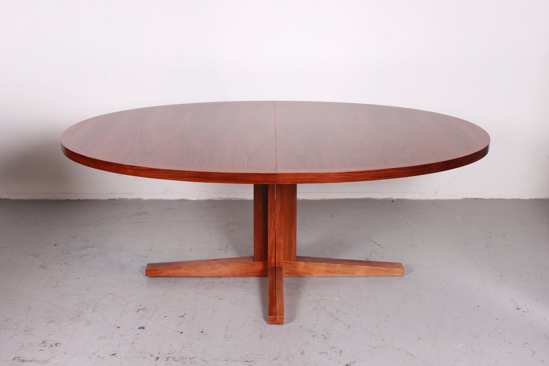 Vintage extensible dining table from dyrlund for sale at for Table 90 extensible