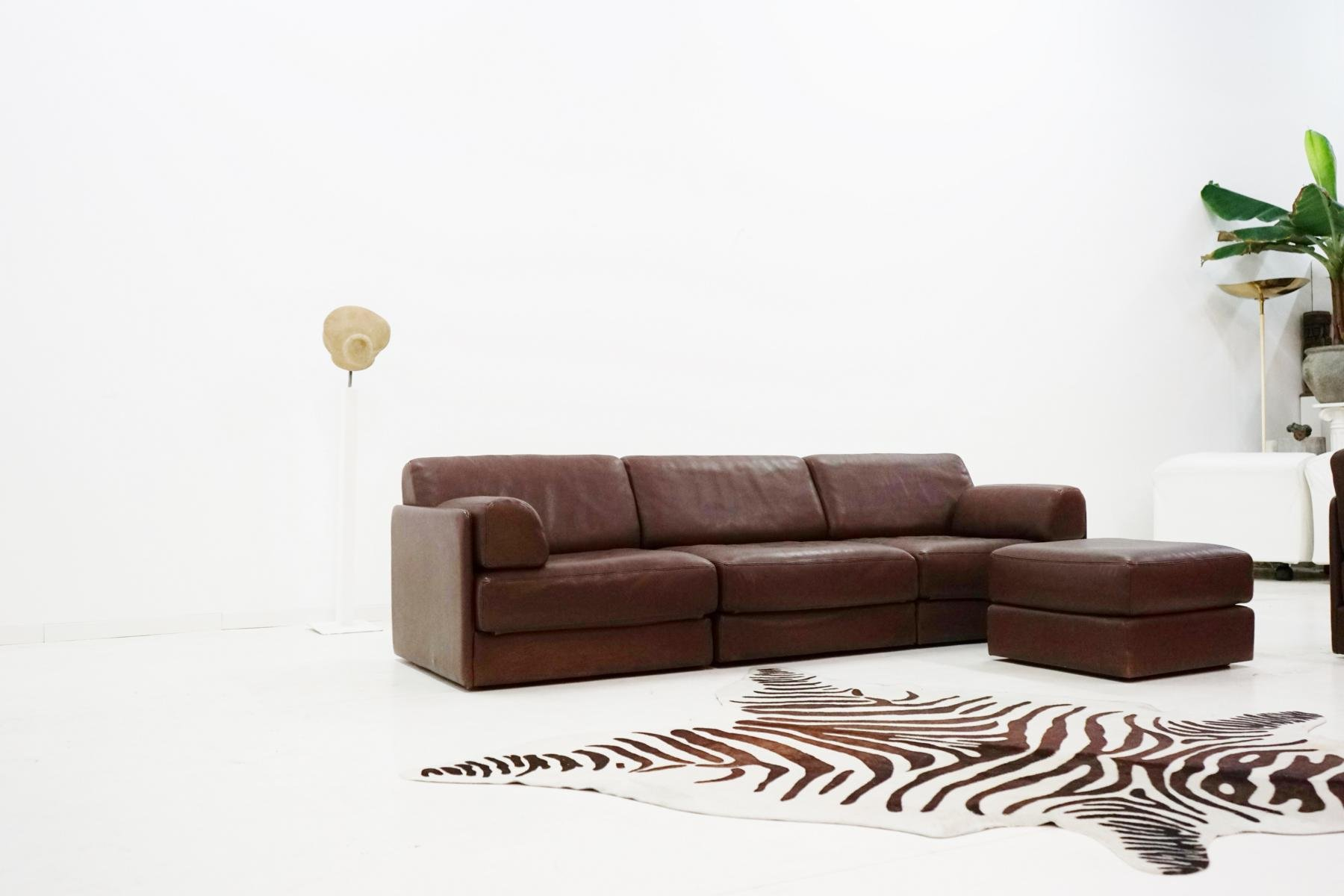 vintage ds 76 leather modular sofa from de sede for sale at pamono. Black Bedroom Furniture Sets. Home Design Ideas