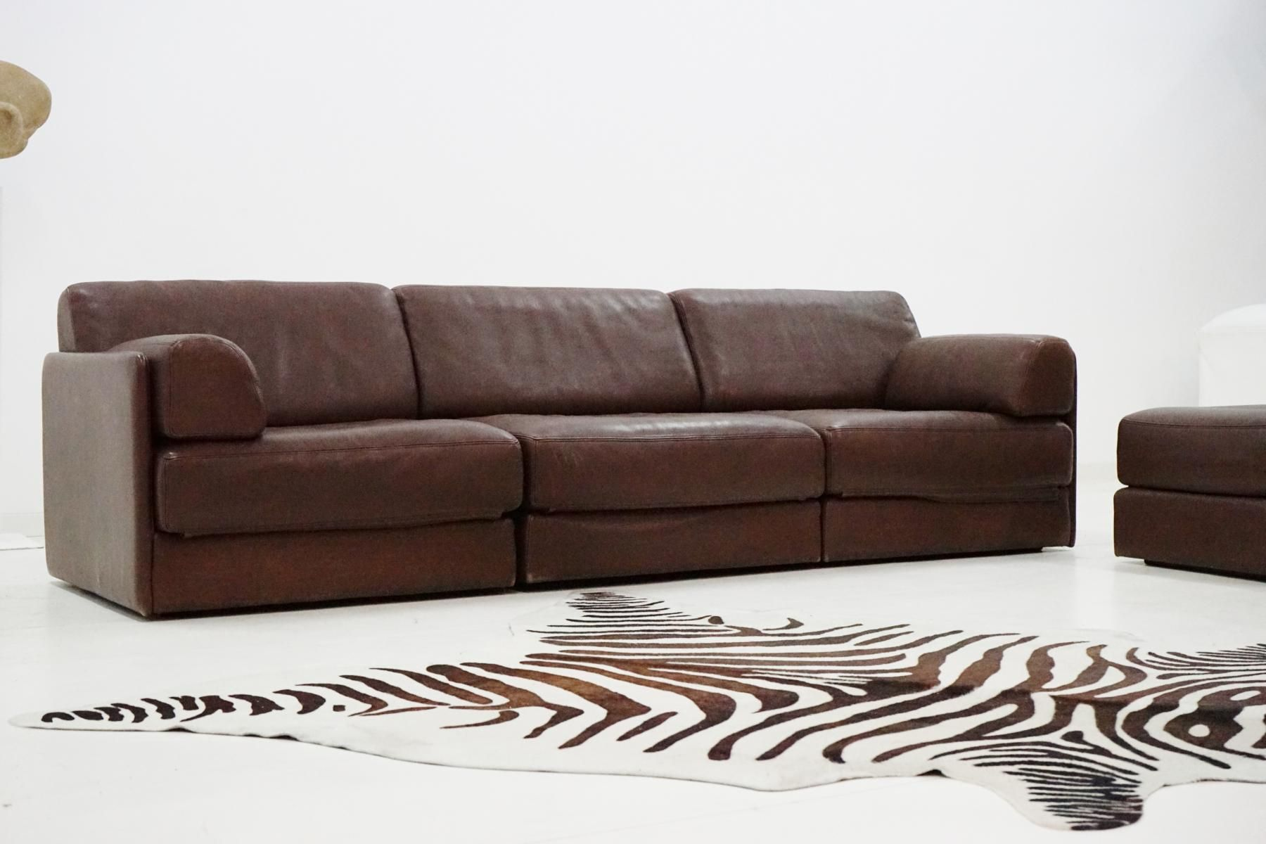 vintage ds 76 leather modular sofa from de sede for sale. Black Bedroom Furniture Sets. Home Design Ideas