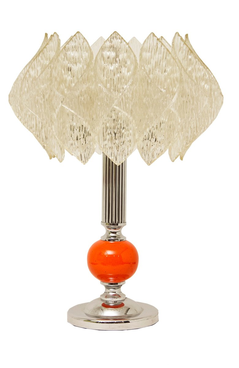 Mid century table lamp with lotus shade for sale at pamono mid century table lamp with lotus shade geotapseo Gallery