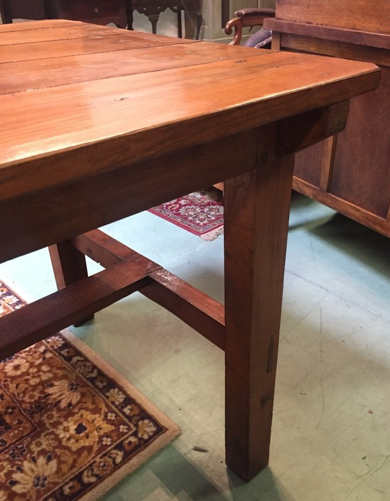 Antique Elm Farmhouse Table for sale at Pamono
