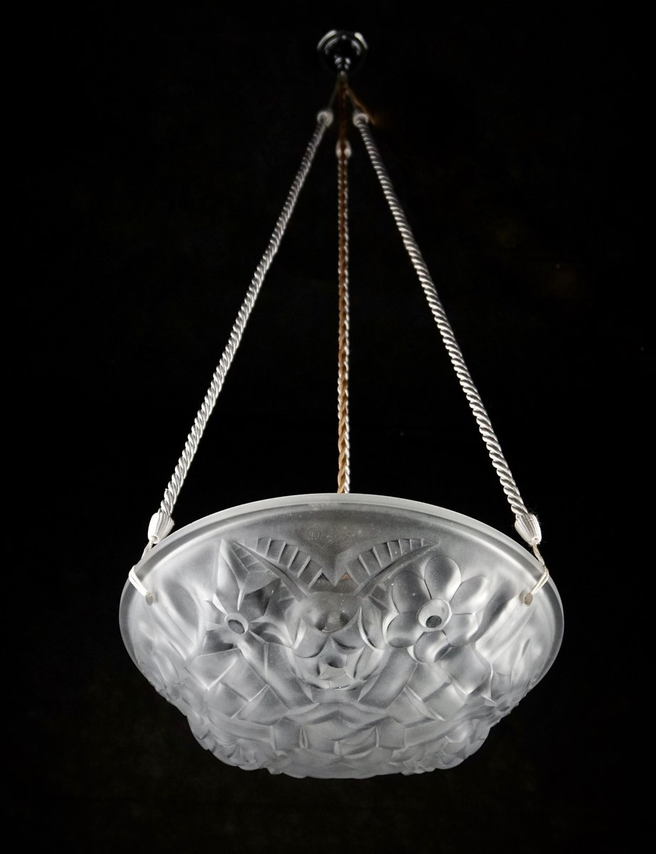 French art deco chandelier by david gueron for degu for sale at pamono french art deco chandelier by david gueron for degu arubaitofo Choice Image