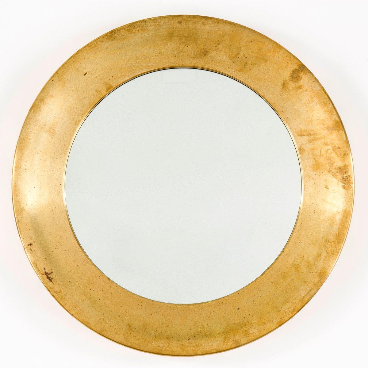 Mid century spiegel mit messingrahmen von markaryd bei for Spiegel mit messingrahmen