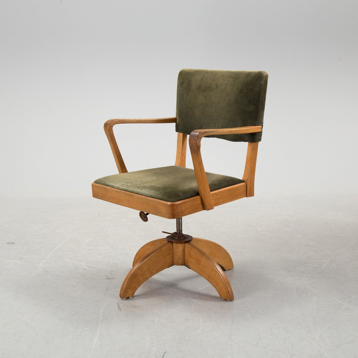 swedish art deco desk and swivel chair set 1930s for sale