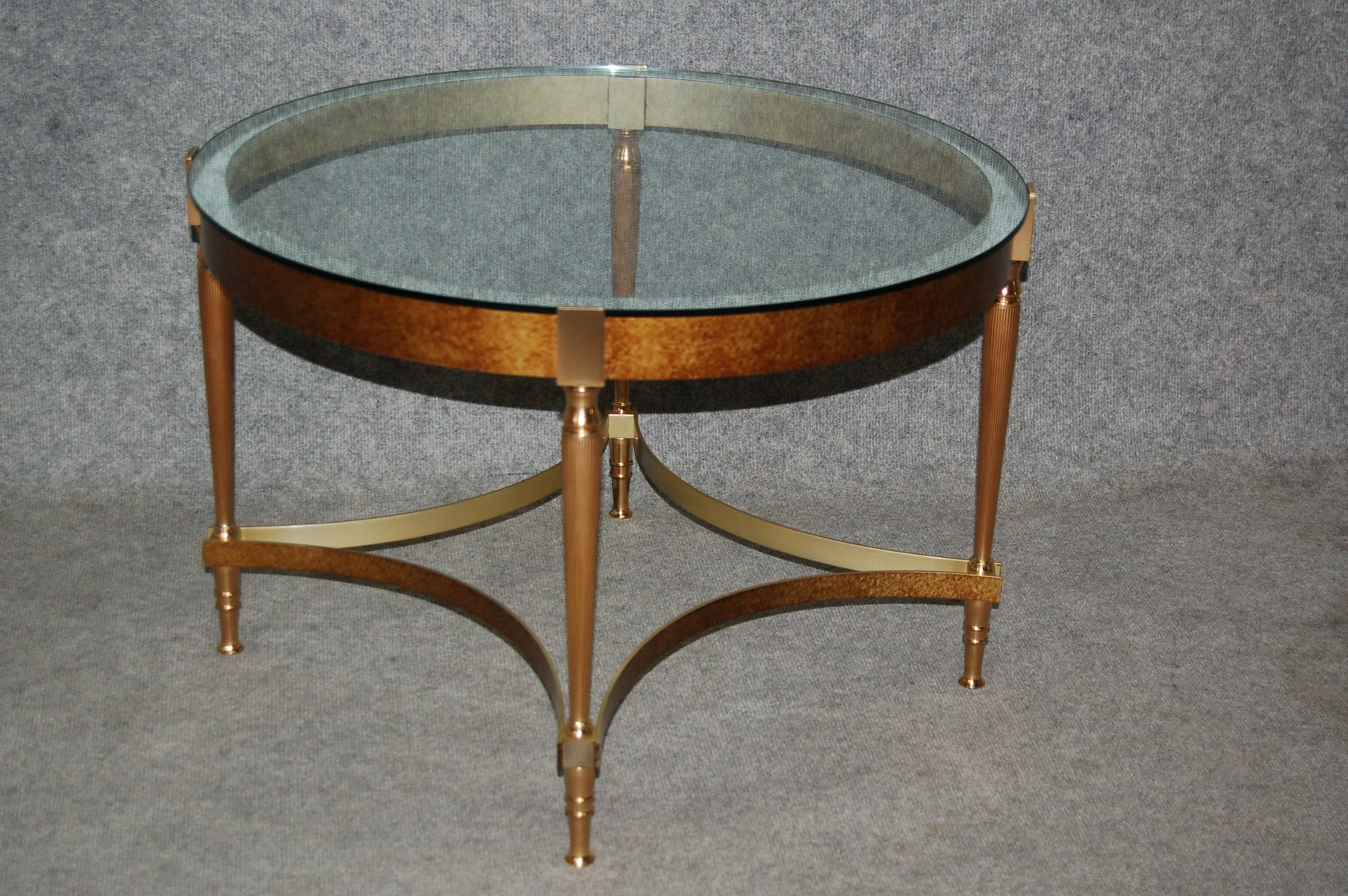 Vintage bronze coffee table with glass top for sale at pamono Bronze coffee tables