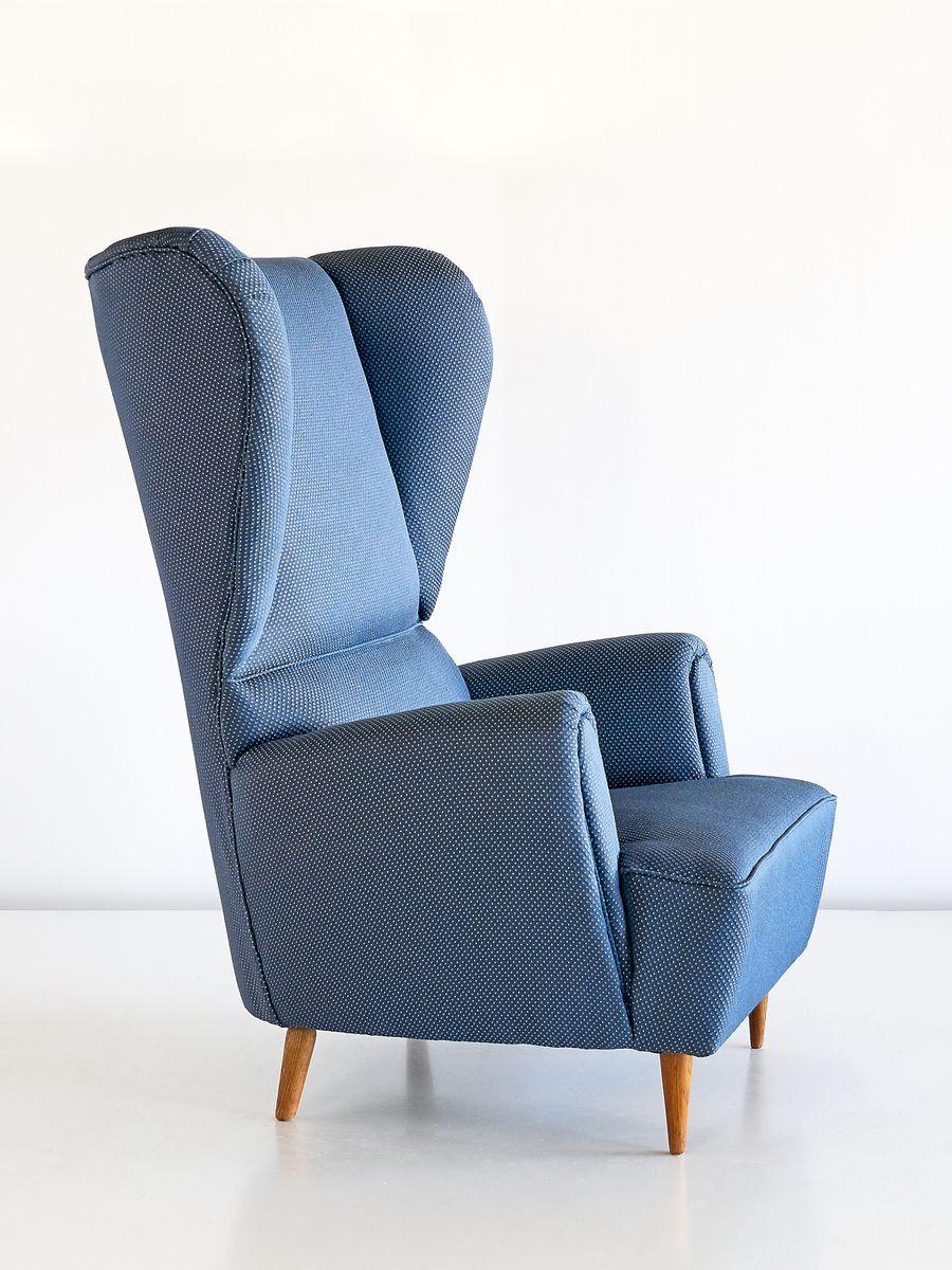 vintage sessel mit rubelli bezug von paolo buffa 1940er bei pamono kaufen. Black Bedroom Furniture Sets. Home Design Ideas