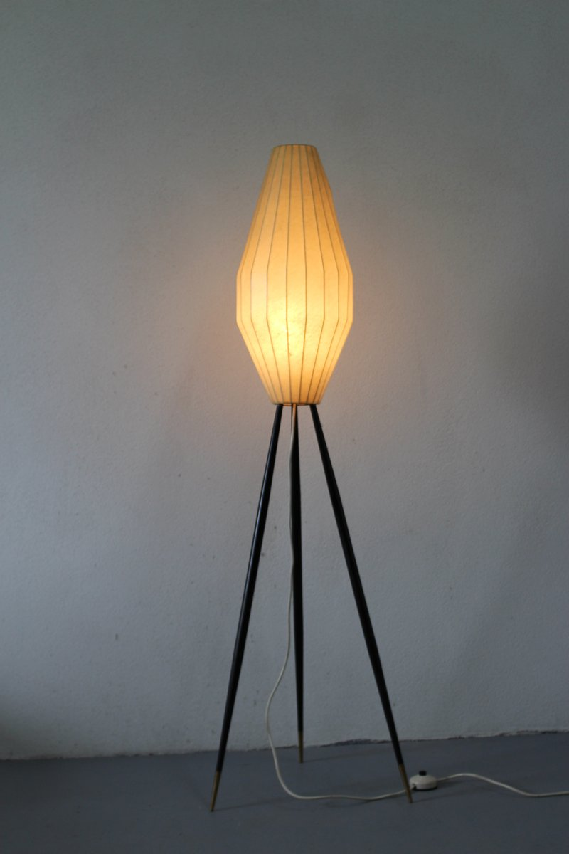 vintage italian cocoon style floor lamp 1950s