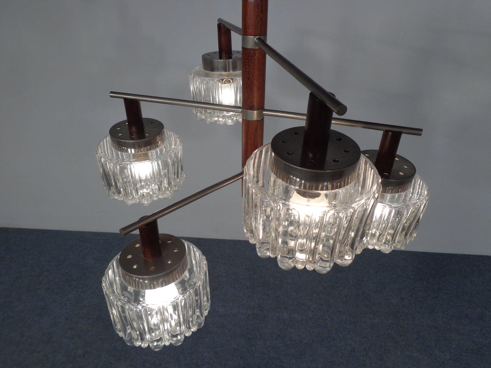 deckenlampe aus palisander glas 1960er bei pamono kaufen. Black Bedroom Furniture Sets. Home Design Ideas