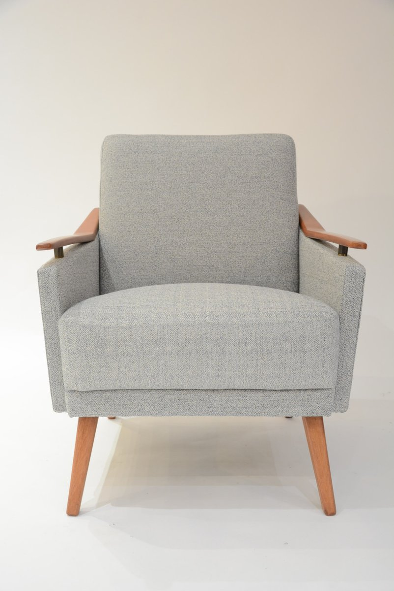 Cream blue soviet armchair for sale at pamono for Cream armchair