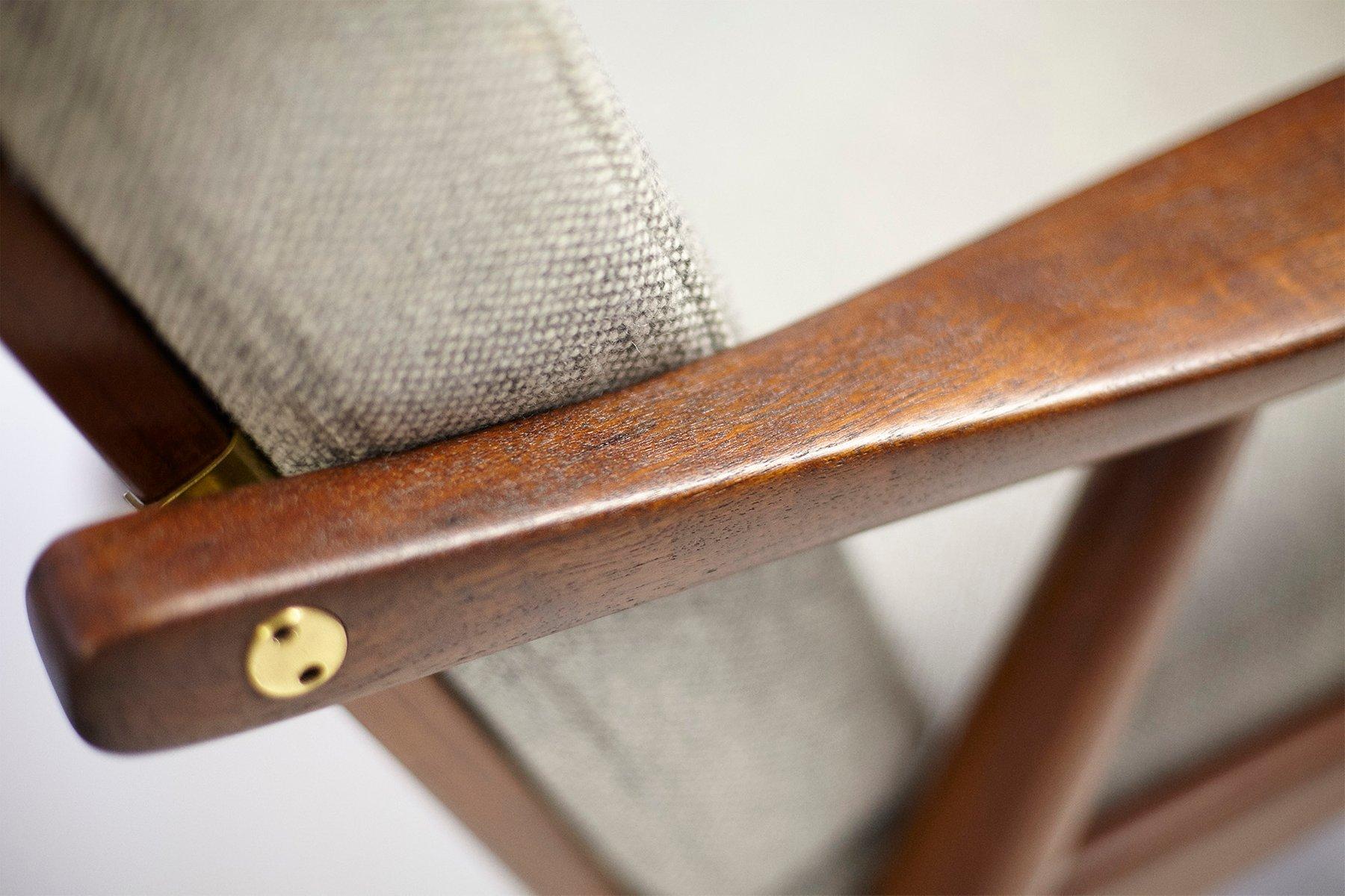 GE 270 Teak Lounge Chair by Hans J Wegner 1956 for sale at Pamono