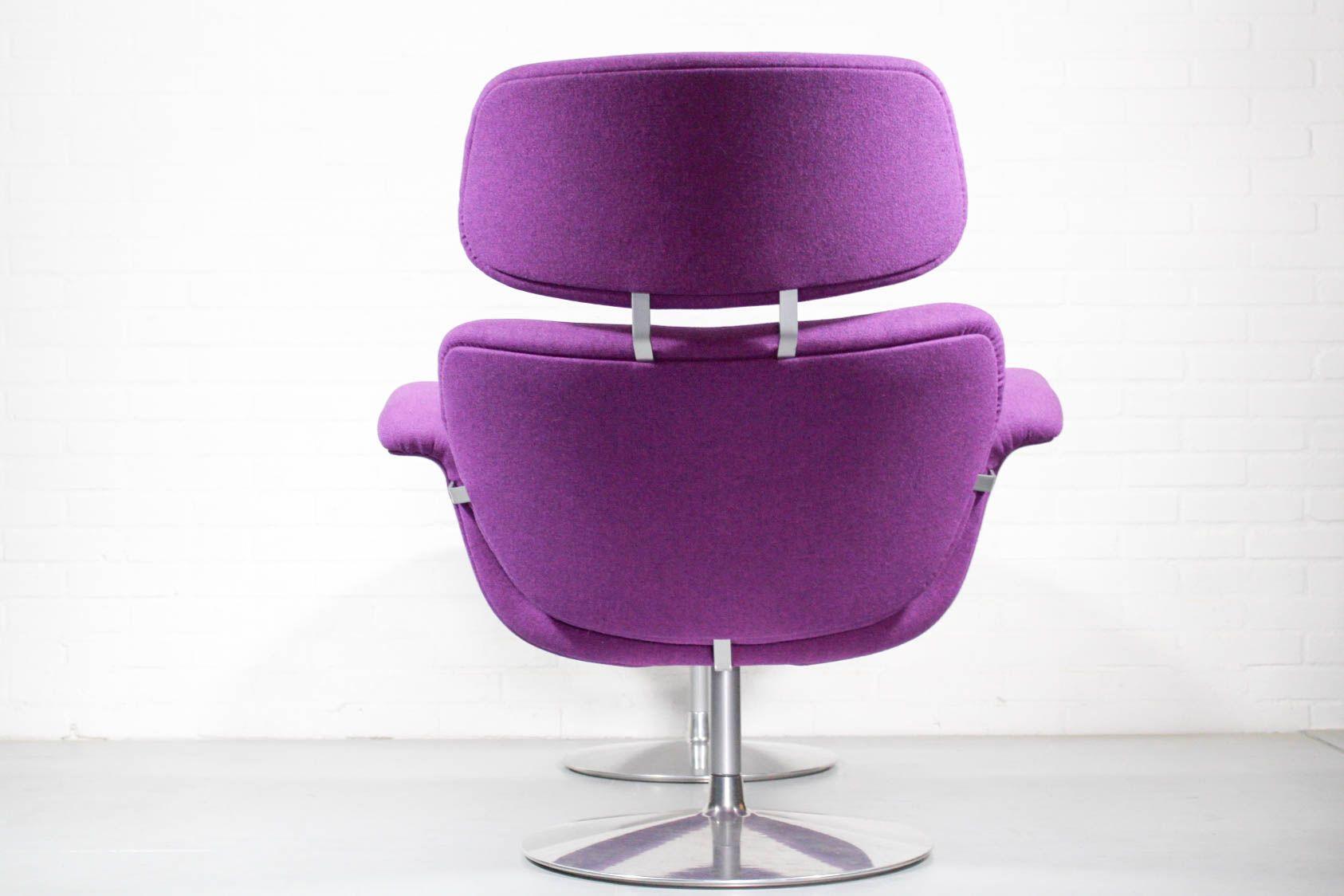chaise ottomane tulip vintage par pierre paulin pour artifort en vente sur pamono. Black Bedroom Furniture Sets. Home Design Ideas