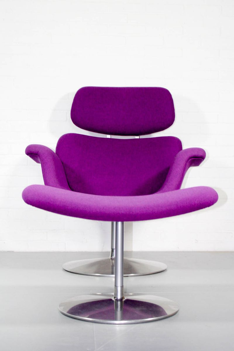 Vintage Big Tulip Lounge Chair & Ottoman by Pierre Paulin for Artifort fo