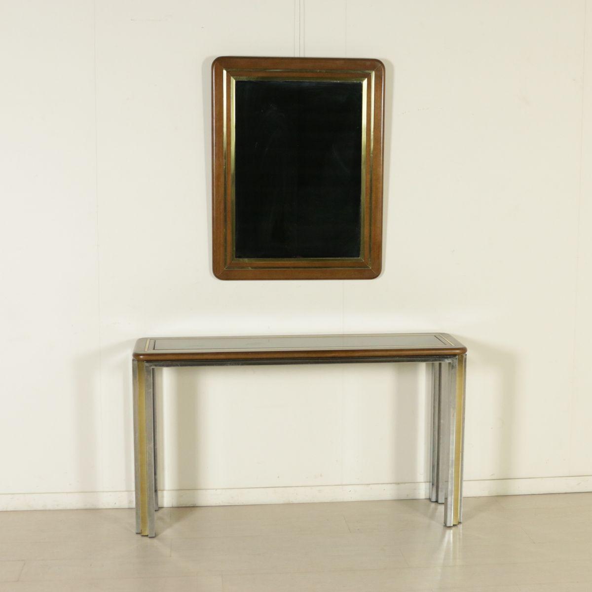 konsolentisch mit spiegel 1970er bei pamono kaufen. Black Bedroom Furniture Sets. Home Design Ideas