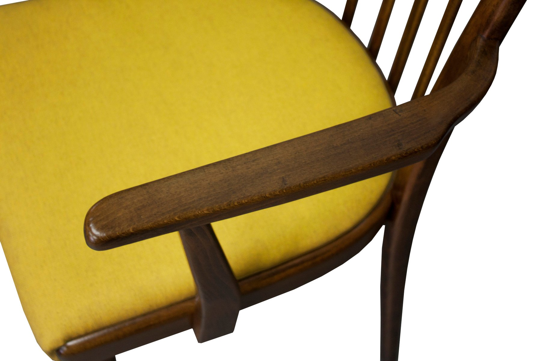Mid Century Dining Chair with Mustard Cushion by Jiri Jiroutek for