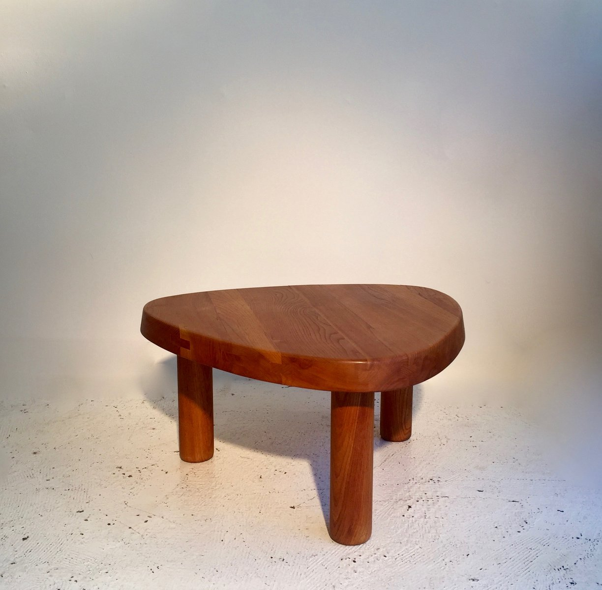 vintage elm coffee table by pierre chapo for sale at pamono. Black Bedroom Furniture Sets. Home Design Ideas