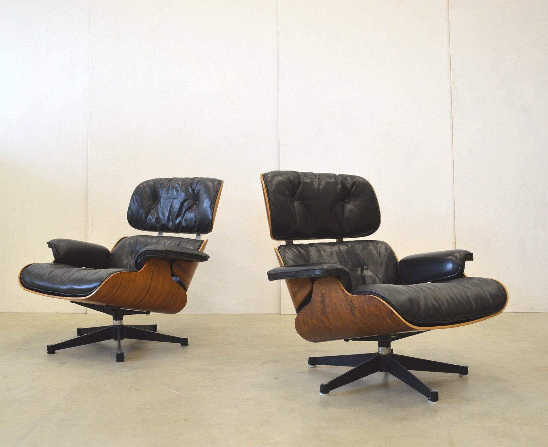 palisander sessel von charles ray eames f r herman. Black Bedroom Furniture Sets. Home Design Ideas