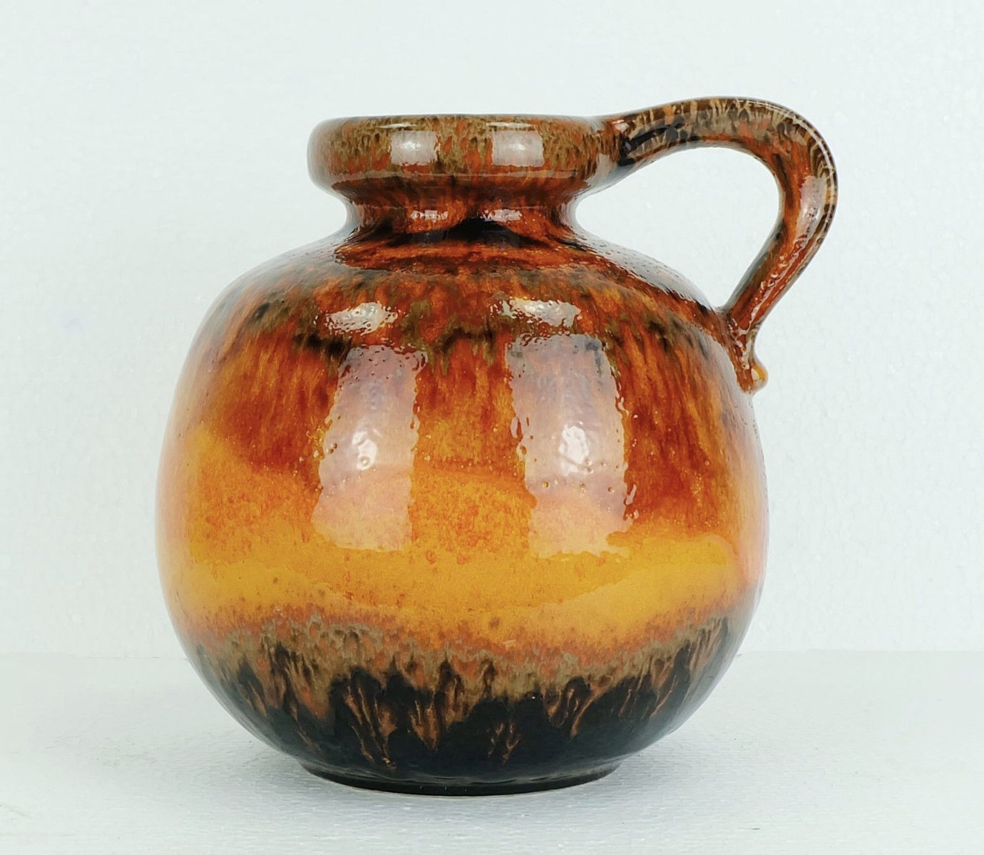 Vintage burnt orange vase from scheurich for sale at pamono for Orange vase