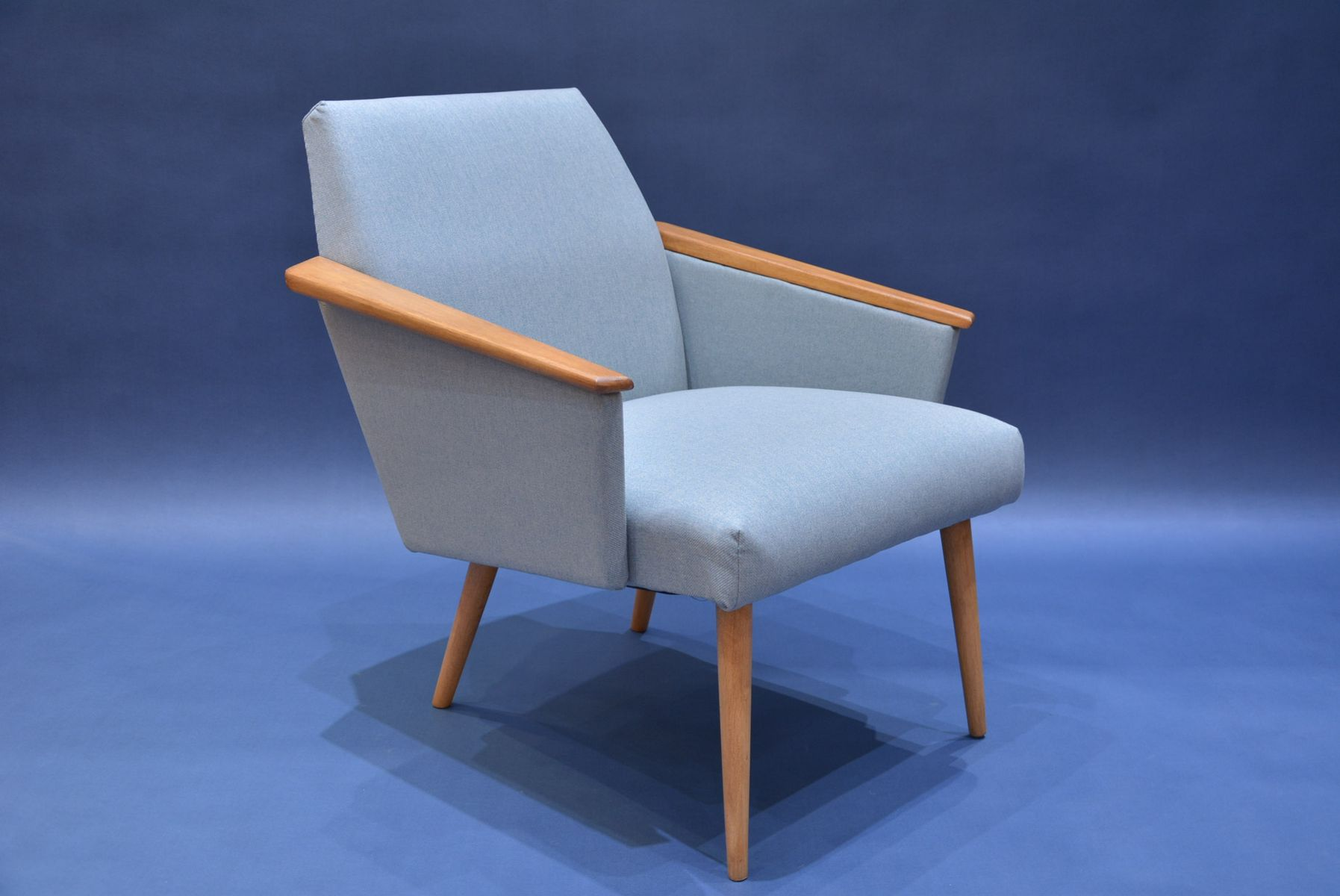 Mid century light blue polish armchair for sale at pamono for Light blue armchair