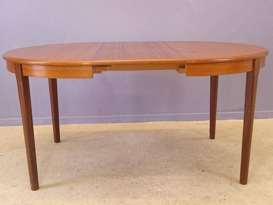 Scandinavian teak rosewood extendable dining table for sale at pamono - Dining table scandinavian ...
