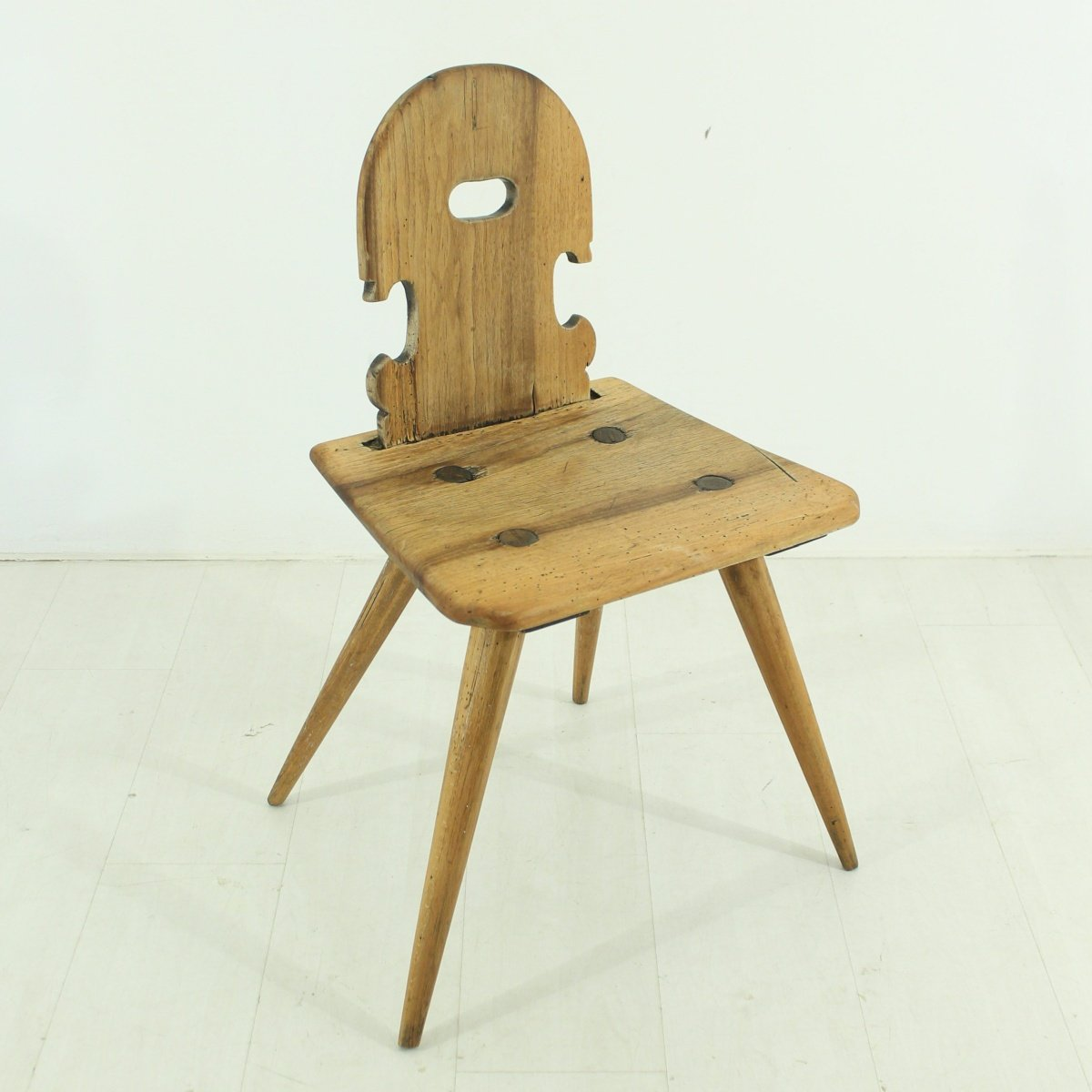 Antique Walnut Farmhouse Chair 1850s for sale at Pamono
