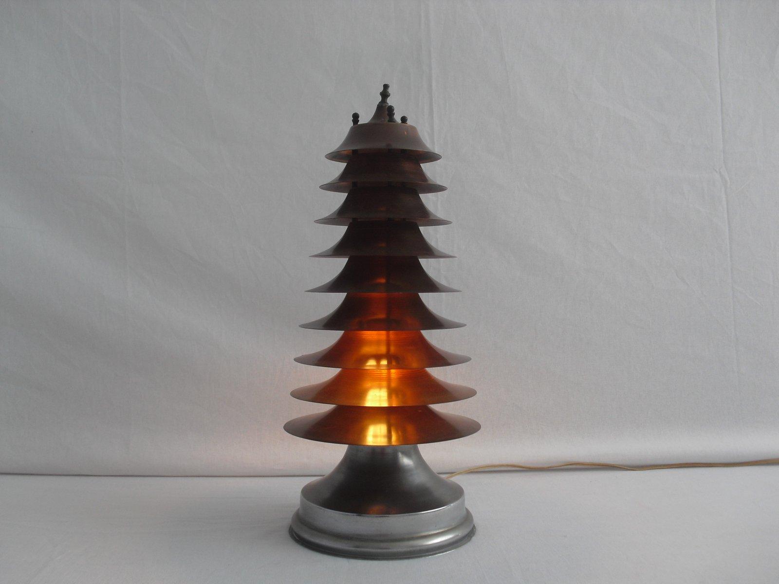 lampe de bureau art d co re de la machine en forme de pagode 1920s en vente sur pamono. Black Bedroom Furniture Sets. Home Design Ideas