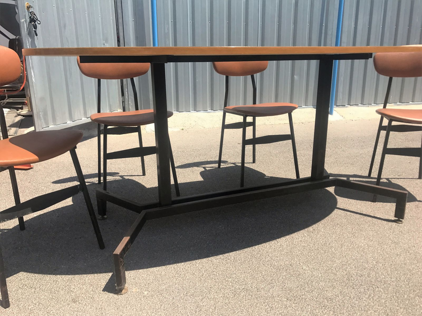 Delightful Mid Century Modern Danish Teak Table U0026 4 Chairs, 1950s, Set Of 5