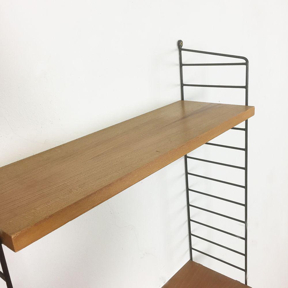 schwedisches ulmenholz wandregal von nisse strinning f r string 1960er bei pamono kaufen. Black Bedroom Furniture Sets. Home Design Ideas