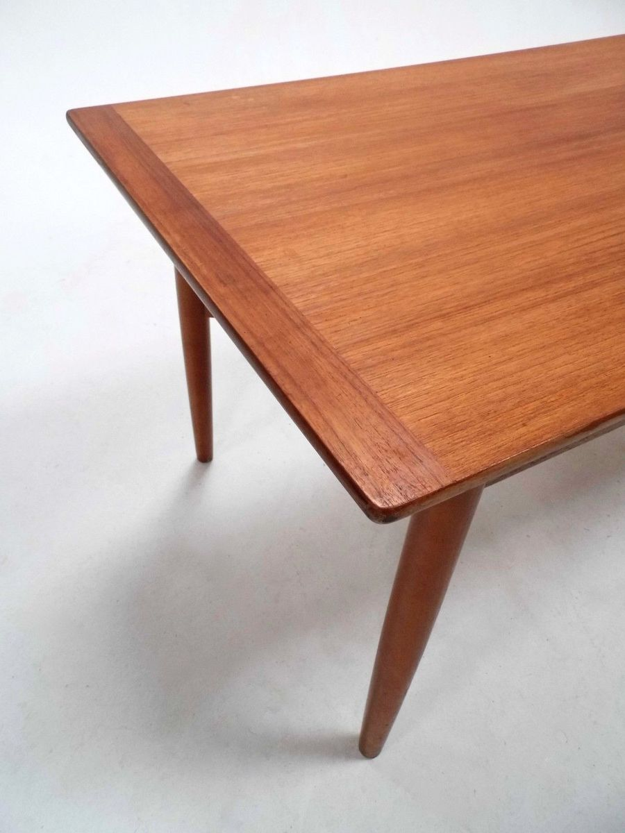 mid century scandinavian teak extending coffee table with shelf 1960s for sale at pamono. Black Bedroom Furniture Sets. Home Design Ideas