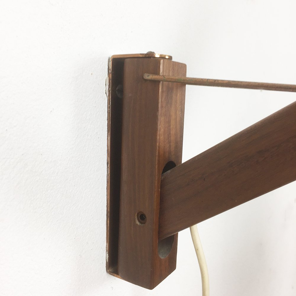 Wall Lights Extendable : Danish Extendable Walnut Wall Light, 1960s for sale at Pamono