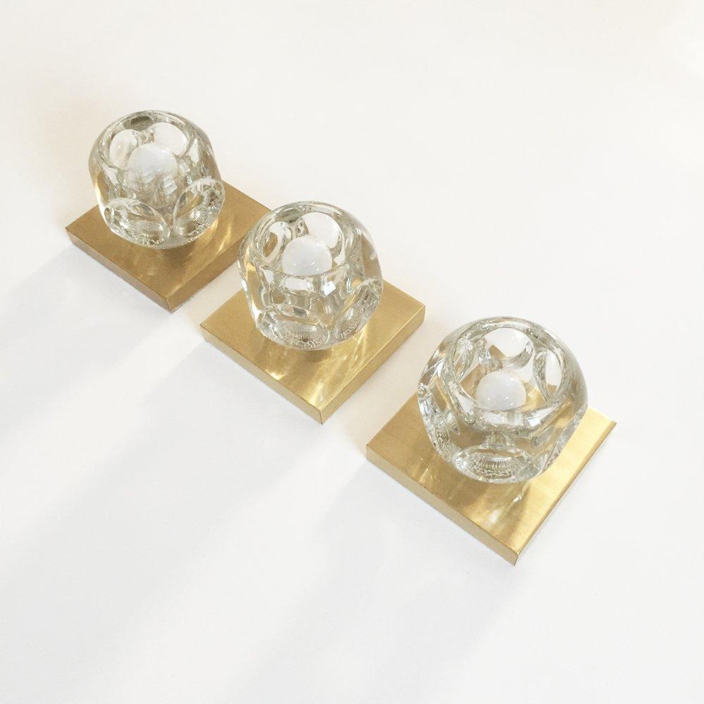 Deutsche moderne messing glas wandlampen von peill for Moderne wandlampen