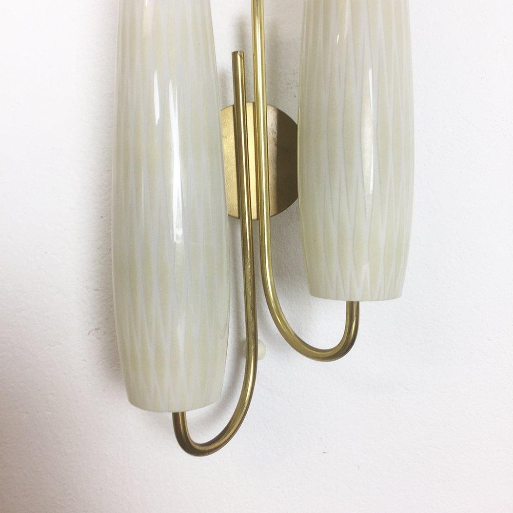italienische moderne metall wandlampen 1950er 2er set. Black Bedroom Furniture Sets. Home Design Ideas